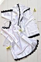Женский атласный комплект халат и пеньюар, фото 1