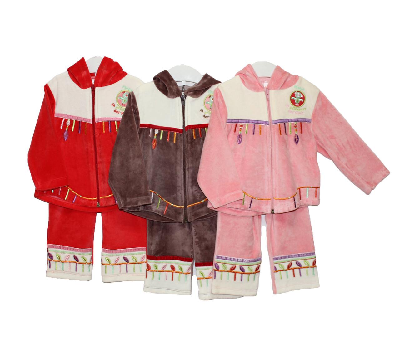 Дитячі костюми велюрові для дівчинки Tofigo 1592