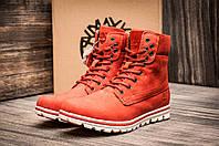 Зимние ботинки Timberland, унисекс, высокие, кирпичные, на меху, р. 37 38 39 40 41