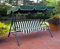 Качеля садовая диван кровать уличная прочная металическая качественная трех местная