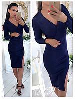 Платье (Фабричный Китай) качество люкс ткань машинная вязка резинка (20093)