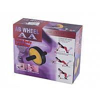 Ролик для пресса AB Wneel 2 колеса, тормоза, неопрен., D-200 R2001