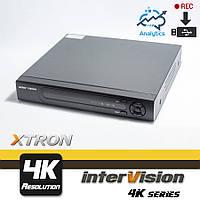 XTRON-4K-44USB видеорегистратор 4 канальный,  пентатрибридный  Ultra HD видеонаблюдение.