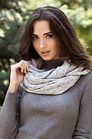 Зимний женский Снуд «Имидж» Светло-серый меланж