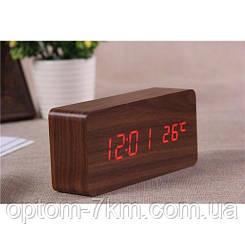 Электронные Настольные Цифровые Часы VST-862-1 Красное Дерево am