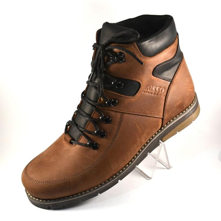 Коричневые зимние мужские ботинки Rosso Avangard. Major Payne Street Brown кожаные