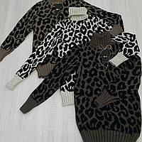 Красивый женский шерстяной свитер модной расцветки