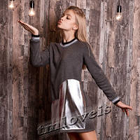 Теплое платье для девочки подростка InLove на меху