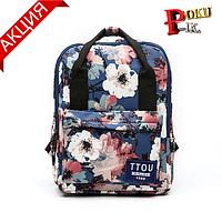 Рюкзак сумка (трансформер) женский городской с цветочным принтом
