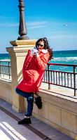 Зимнее пальто для беременных и слингомам -  3в1
