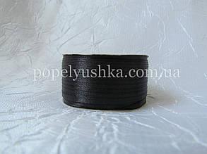 Стрічка атласна 0,3см чорна