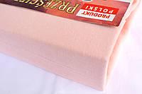 Простынь (наматрасник) на резинке из трикотажа светло-розовая