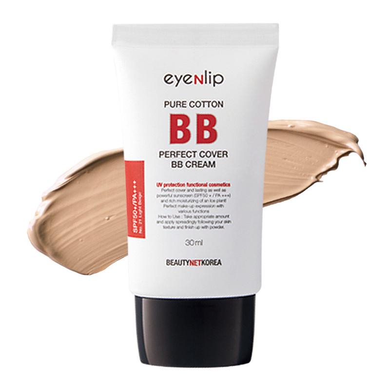 Матирующий ББ крем Eyenlip Pure Cotton Perfect Cover BB Cream - Natural Beige