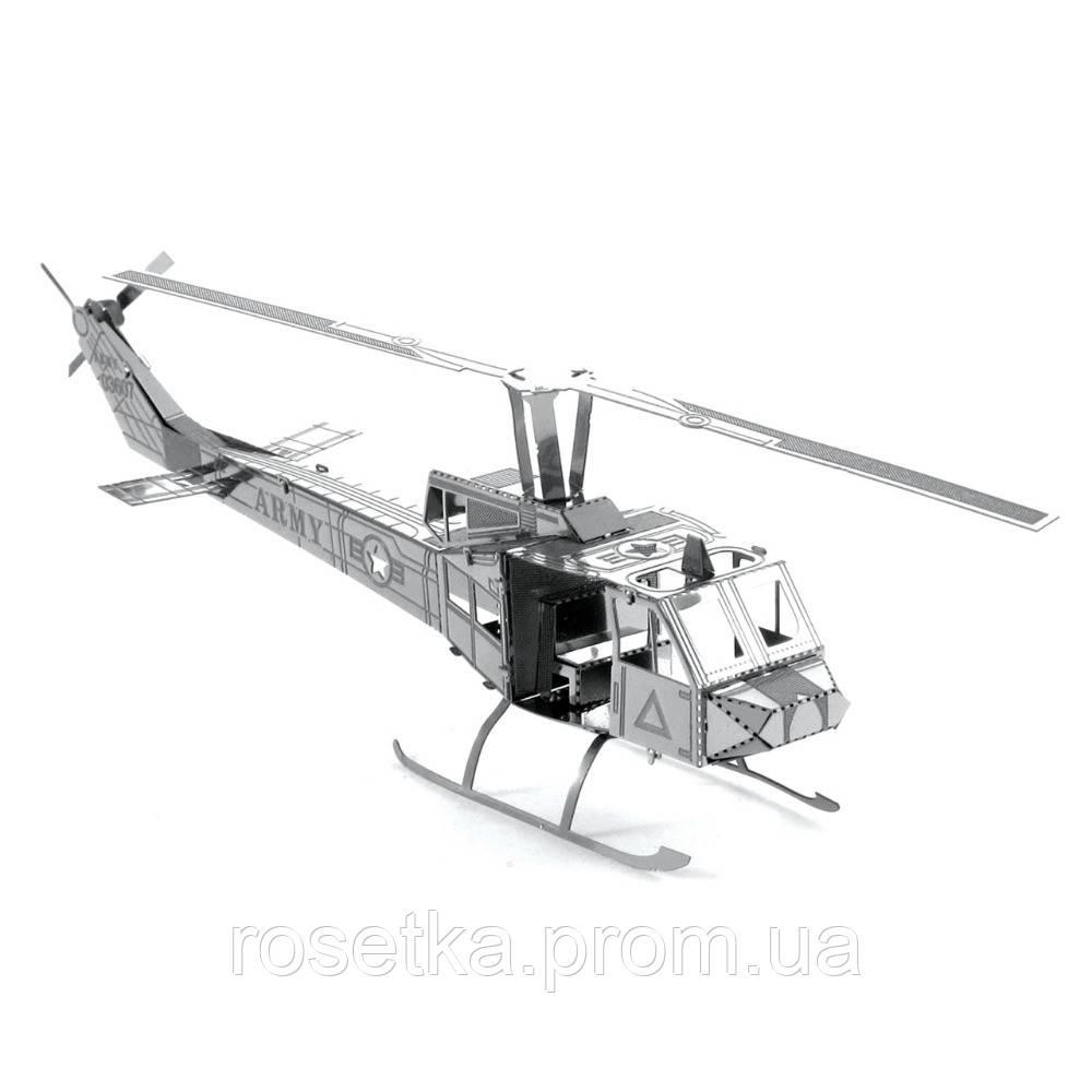 "Металлический 3D пазл  ""Вертолет Huey Helicopter"", Metalic Nano Puzzle"