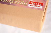 Простынь (наматрасник) на резинке из трикотажа кофейная