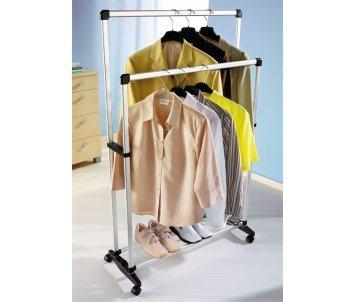 Стойка для одежды двойная (ширина 1-1,5м высота 0,8-1,8м)