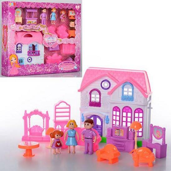 Детский игровой набор для Девочки Игровой набор Домик 689-8 , мебель, игровые фигурки