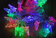 Новогодняя гирлянда с фигурками, елка 3D 40 LED