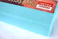Простынь (наматрасник) на резинке из трикотажа голубая