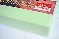 Простынь (наматрасник) на резинке из трикотажа салатовая