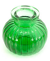 Колба для кальяна стекло зеленая (9х9х9 см) (внутренний d-4 см)