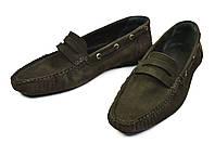 Коричневые стильные мокасины мужские кожаные Paolo Gianni