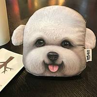 Кошелек собака бишон фризе 3D печать
