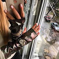Женские перчатки митенки длинные 301 дор