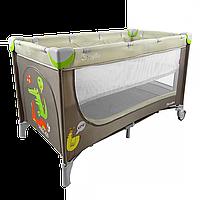 Детский манеж-кровать CARRELLO PICCOLO+ CRL-9201 BEIGE. Гарантия качества. Быстрая доставка.