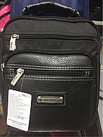 Мужская сумка-барсетка комбинированная