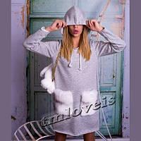 Утепленное платье для девочки подростка Meh