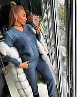 """Женский модный теплый костюм вязаный """"EURO"""" (4 цвета)"""