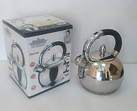 Чайник со свистком Peterhof PH-15569 2.7л с многослойным дном