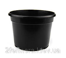 Горшок черный круглый Ф11 для рассады и растений 550мл сверхпрочный