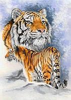 """Набор алмазной вышивки (мозаики) """"Семья тигров"""". Художник Kang Jung Ho"""