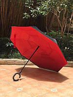 Зонт автомат  UpBrella красный  антишторм