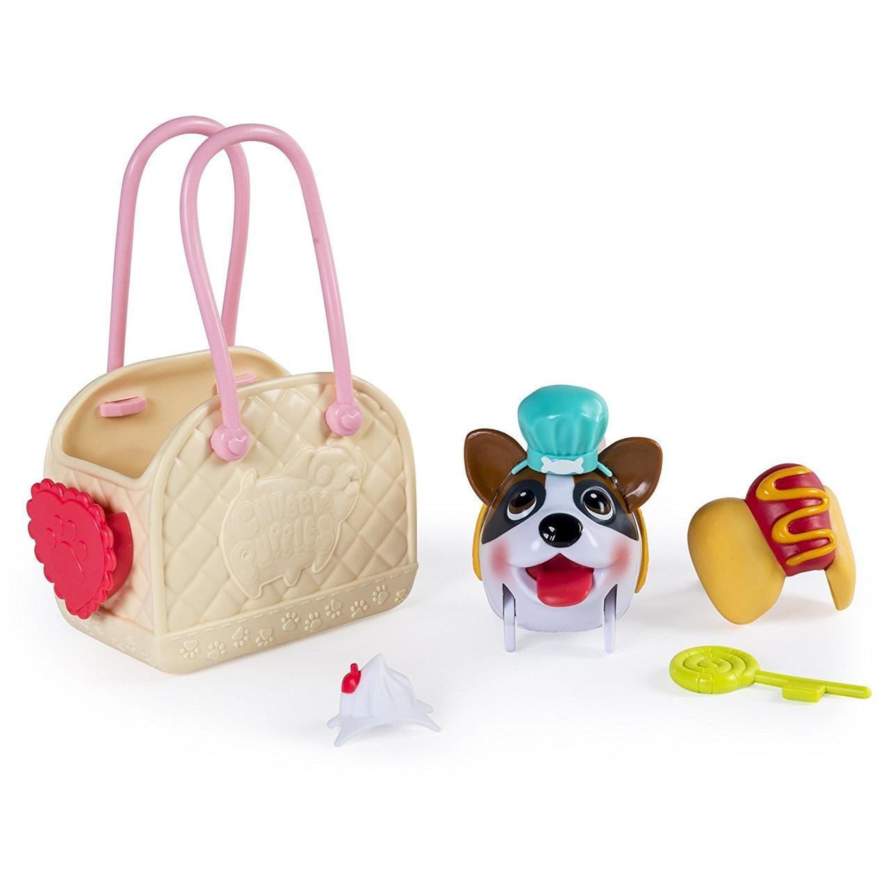 Spin Master Игровой набор Chubby Puppies с сумкой переноской - Боксер