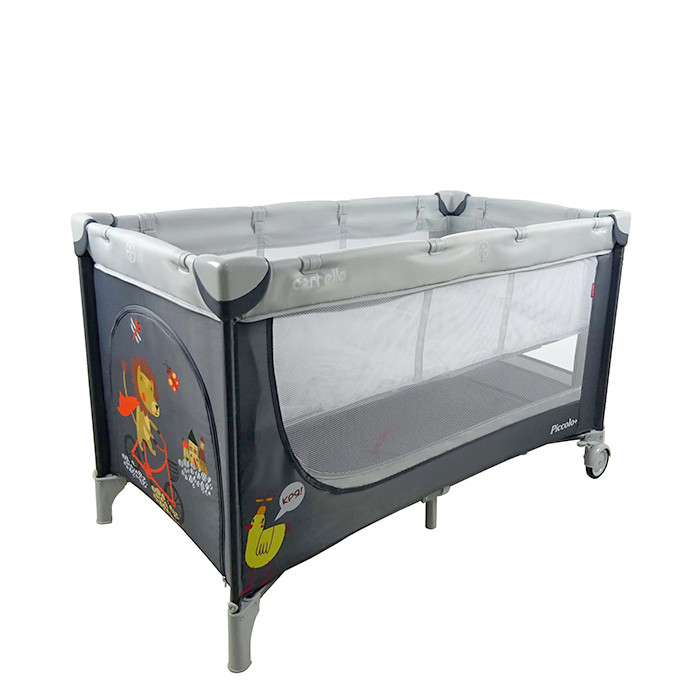 Детский манеж-кровать CARRELLO PICCOLO+ CRL-9201 GREY. Гарантия качества. Быстрая доставка.