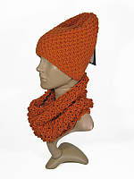Шарф труба хомут оранжевый мужской женский