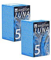 Тест-полоски для тестирования уровня холестерина  Веллион Луна ( Wellion Luna) 2 упаковки - 10 штук