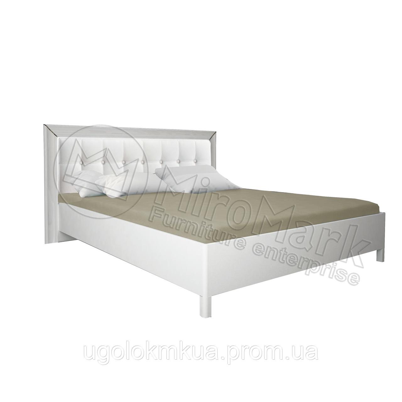 Спальня Белла белый глянец кровать 1,80*2,00 профиль мягкая спинка (без каркаса)