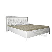 Спальня Белла белый глянец кровать 1,80*2,00 профиль мягкая спинка (без каркаса), фото 1