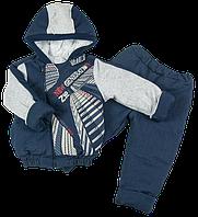 Комплект из джинса на синтепоне для мальчика 86 размер. Теплый костюм из 2-х частей