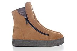 Зимние ботинки женские замшевые, из натуральной замши, натуральная замша