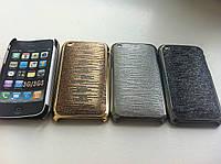 Пластиковый матовый cеребряный чехол iphone 3/3S, фото 1