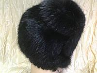 Меховая шапка из ондатры с ремешком регулировки наклона