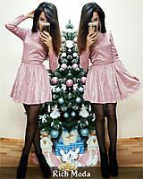 Женское гипюровое платье на атласе, в расцветках