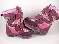 Термоботинки B G-Termo для девочек зимние розовые на липучках до -30 25 60decf2e226