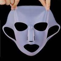 Многоразовая силиконовая маска для усиления эффекта средств по уходу за лицом