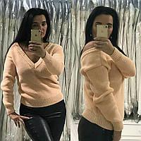 Женский вязаный модный свитер